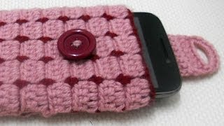 Funda movil Tutorial del punto ganchillo PARTE-1