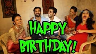 getlinkyoutube.com-Devoleena Bhattacharjee celebrates her birthday with Co-Stars