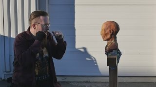 "getlinkyoutube.com-Plastic knuckle dusters and the ""Spikey"" vs. zombie head from ZGB"