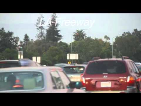 LA Freeway Motorcyles Spliting Lanes