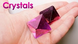 getlinkyoutube.com-Grow Purple Single Crystals of Salt at Home! DIY Home Decorations!