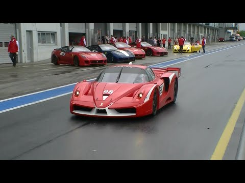 Ferrari FXX in Action!! Start-up + Accelerations sound and More!!