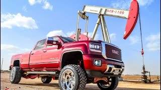"""getlinkyoutube.com-2015 GMC Sierra Denali Long bed lifted on a 7"""" FTS Suspension lift 22 by 12 Fuels #Salinas"""