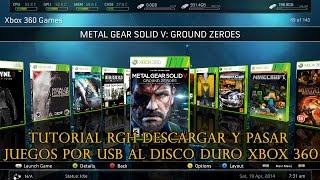 getlinkyoutube.com-TUTORIAL RGH DESCARGAR Y PASAR JUEGOS POR USB AL DISCO DURO XBOX 360 | Hack Veneno