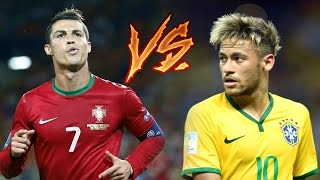 getlinkyoutube.com-Cristiano Ronaldo vs Neymar Jr ● Craziest Skills & Goals ● Portugal & Brazil 2015/2016 HD