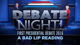 """getlinkyoutube.com-""""DEBATE NIGHT!"""" — A Bad Lip Reading of the first 2016 Presidential Debate"""