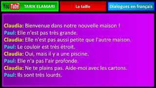 Dialogue en français Niveau A1 34 french conversation La taille