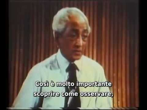 J.KRISHNAMURTI - Talk 1 - Part 4 (of 7) - San Diego University - 1970 - sub ITA.avi