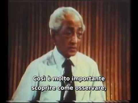 J.KRISHNAMURTI - Talk 1 - Part 4 (of 7) - San Diego University - 1970 - sub ITA.avi