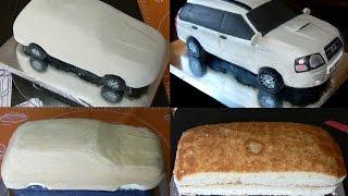 getlinkyoutube.com-Торт машина. Как сделать торт машину. Оформление сахарной мастикой