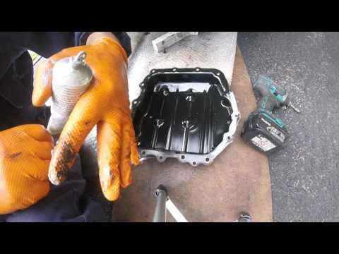 How to drain automatic transmission oil Chrysler Voyager слить масло из АКПП Chrysler Dodge