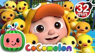 Ten Little Duckies (A Number Song)   +More Nursery Rhymes & Kids Songs - ABCkidTV