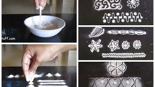getlinkyoutube.com-Rangoli basic techniques and innovative rangoli patterns | Poonam Borkar rangoli