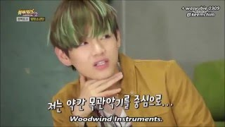 BTS V pronounced Saxophonist wrong! (19+) width=