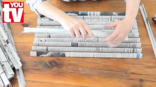 getlinkyoutube.com-Tip: Make a basket out of newspaper