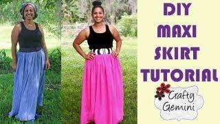 getlinkyoutube.com-How to Make a Maxi Skirt- DIY Tutorial- NO ELASTIC waistband