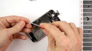 getlinkyoutube.com-iPhone 4S Screen Replacement Disassembly and Reassembly - CRAZYPHONES