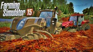 getlinkyoutube.com-Trator Atolado Na Lama - Farming Simulator 2015 + Logitech G27