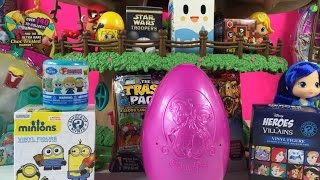 getlinkyoutube.com-Blind Bag Treehouse Play-Doh Surprise Eggs Shopkins Frozen Unboxing   PSToyReviews