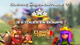 getlinkyoutube.com-3 étoiles en Gowipe HDV 9 - Guerre douloureuse - Clash Of Clans [FR]