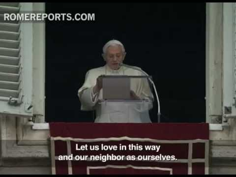 Pope's Angelus  Loving God means loving our neighbors
