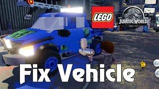 getlinkyoutube.com-LEGO Jurassic World Fix Vehicle Isla Sorna