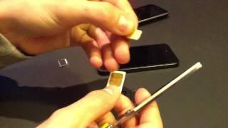 getlinkyoutube.com-Passer d'une carte SIM Iphone 4/4S à une carte SIM Iphone 5 c'est facile ! +Bonus Earpods