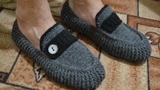 """getlinkyoutube.com-""""Мужские мокасины"""" на войлочной подошве (Men's moccasins on felt soles)"""