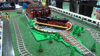 getlinkyoutube.com-LEGO train and slot car crashes - Kaleen 2012