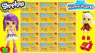 getlinkyoutube.com-Shopkins Happy Places Kitty Kitchen, Bathing Bunny, Dreamy Bear and Lil Shoppies