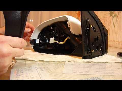 Как разобрать боковое зеркало 'киа рио'- 3 (часть 2)