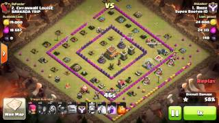 getlinkyoutube.com-RHOX CoC Ep.6 - TH8 GoWiPe ATTACK vs Square Base  | Clash of Clans 3 Stars Clan Wars