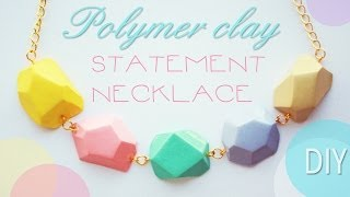 getlinkyoutube.com-polymer clay STATEMENT NECKLACE - tutorial