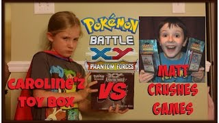 Pokemon Pack Battle vs Matt Crushes Games! Phantom Forces Elite Trainer Box