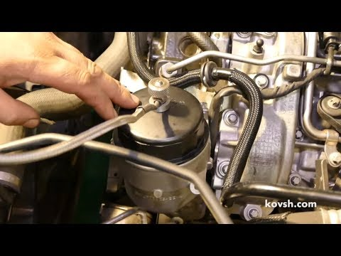 Как измерить давление масла двигателя OM642: переделываем крышку масляного фильтра.