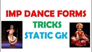 Dance Forms In India Tricks    In Telugu    GK Tricks In Telugu for competitive exams