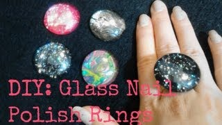 getlinkyoutube.com-FASHION DIY: Glass Rings using Nail Polish!