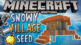 SNOWY SAVANNA VILLAGE! - Minecraft PE Triple Village Seed (Pocket Edition)