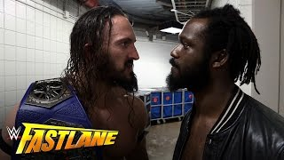 Neville learns he has a Cruiserweight Title fight on Raw: WWE Fastlane Exclusive, March 5, 2017 width=