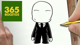 getlinkyoutube.com-COMO DIBUJAR SLENDERMAN KAWAII PASO A PASO - Dibujos kawaii faciles - How to draw a SLENDERMAN