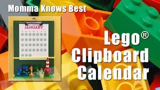 Legos™ Clipboard Calendar