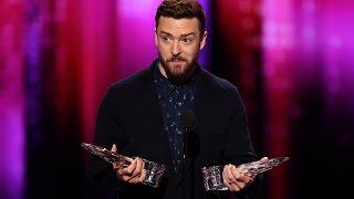 Justin Timberlake Gives ADORABLE Speech & Wins Big At 2017 People's Choice Awards