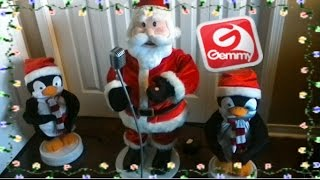 getlinkyoutube.com-Gemmy Santa band Trio (uncommon version)