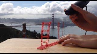 getlinkyoutube.com-3doodler Creation: Golden Gate Bridge in San Francisco!