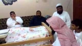 الشيخ عبدالعزيز الزهراني في منزل عبدالله بانعمة