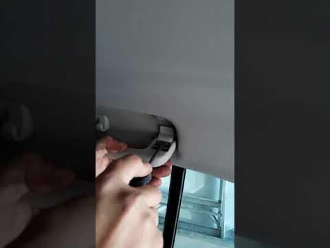 Как снять ручки на потолке skoda superb