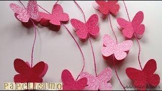 getlinkyoutube.com-Cómo hacer Guirnalda de Mariposas de Papel. Con imprimible