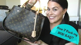How I pack my Bag:Louis Vuitton Montaigne MM