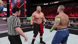 getlinkyoutube.com-WWE 2K15 John Cena vs Brock Lesnar at RAW 2015 (PS4) HD