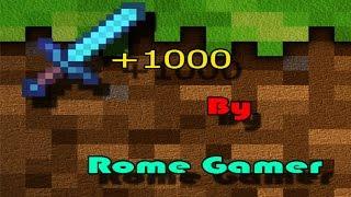 [Rome Gamer] Minecraft 1.8 : สอนทำดาบ +1,000 ,No Mod ,No Plugins